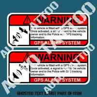 GPS TRACKING ANTI THEFT DECAL STICKER CAR TRUCK VEHICLE SECURITY SAFETY STICKERS
