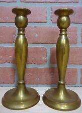 Antique Brass Bradley & Hubbard Mfg Co Pair Candlesticks Decorative Art B&H