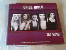 THE SPICE GIRLS - TOO MUCH - UK CD SINGLE - PART 2 & POSTCARD