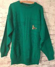 6de225aa391 BLARNEY CASTLE DESIGNS Emerald Green Pullover Sweater IRELAND Embroidery  Size XL