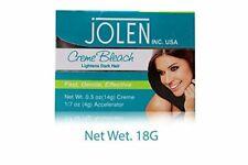 Jolen Lightens Dark Facial Bleach Skin Fairness Cream, 18 gm