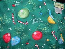 Baby Looney Tunes 2XL Scrub Top Christmas Taz Bugs Tweety Green Front Pockets
