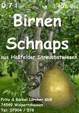 OBSTBRAND 5x 0,7l   40 %  Birnenschnaps Obstler
