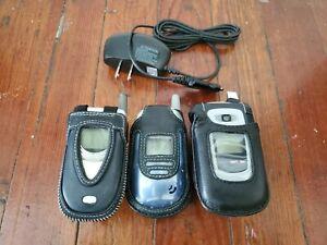(3) Vintage Flip Phones, Verizon, LG, Samsung, Bundle, Plus Extras