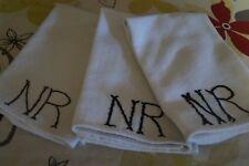 Vintage Monogramed Hand Towels