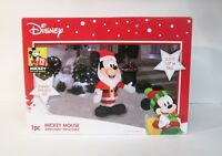 Disney Santa Mickey Mouse Christmas 3.5' Airblown Inflatable LED Gemmy 2018