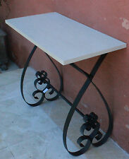 * REDUCED *  Rustic  Wood / Iron   Console / Side Table        BRAND NEW