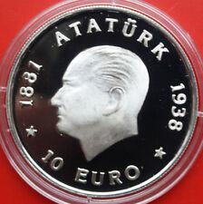 "Turquie: 2.500.000 lire - 10 EURO 1998, KM # 1084. #f 2304, PP-PROOF, ""Ataturk"""