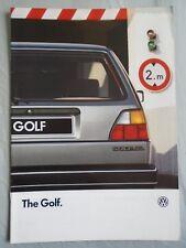 VW Golf range brochure Aug 1986