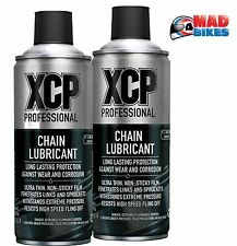 XCP Premium Processional Quality Motorcycle Motorbike Chain Lube 400ml Twin Pack