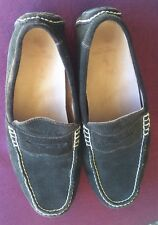 Ralph Lauren Mens Telly 10 D Dark Brown Suede Penny Loafer Driving Shoes