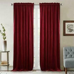 StangH Thick Velvet Curtains 96-inch - Heavy-Duty Large Window Velvet Drapes