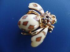 Joan Rivers Bee Tan And Brown Colored Epoxy Enamel  leopard pattern Brooch/Pin