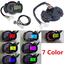 Multifunctional Motorcycle Speedometer 14000RPM Tacho Odometer Gauge 12V 7 Color