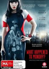 WHAT HAPPENED TO MONDAY DVD, NEW & SEALED, REGION 4, 2018 RELEASE, FREE POST