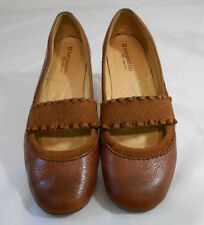 Naturalizer N5 Comfort CANTARA Tan Leather & Fabric Mary Janes Womens Size 8 M