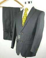 Indochino Mens Two Piece Suit NEW Size 38 R 34 x 28 Gray Linen Wool Blend