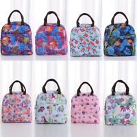 1pc Childrens Adult Kids Picnic Lunch Bag Cool Bag School Printed Insulated Bag
