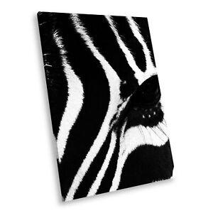 A058 Black White Animal Portrait Canvas Picture Print Large Wall Art Zebra Retro