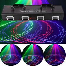 4 Lens 4 Beam 530mW DJ Laser Light DMX512 Red Green Blue Stage Lamp Party KTV