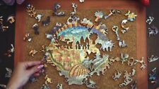 """New unique russian wooden Pieces puzzle Jigsaw """"Inhabited fish"""" premium gift"""