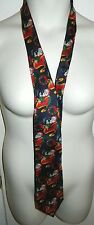 Vtg Rare Christian Dior Monsieur 100% Silk Santa Claus Christmas Men's Neck Tie
