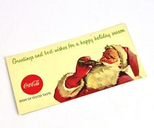 Schöner alter Coca-Cola Coupon USA 1960er - Santa mit King Size 6 Bottle Carton