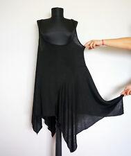 Nelly Johansson Asymmetric Black Linen/Silk Tunic, Size:M