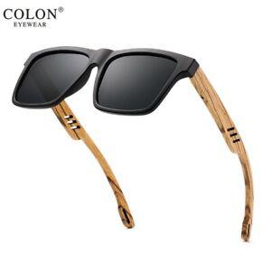 Wooden Bamboo Legs Sunglasses Mens Polarized Outdoor Driving Handmade Glasses