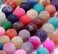 Achatstein 10mm Naturstein Mixfarbe Schmucksteine Achat Perlen BEST R174