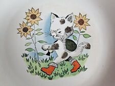 Vintage CHILDRENS PLATE Cat In Boots Continental Porcelain Kahla German 50's