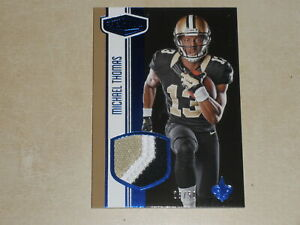 2016 Panini Plates And Patches Blue PATCH #MT Michael Thomas 28/50 Rookie RC