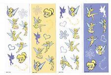 4 Sheets Disney Fun Flowers Fairies Fairy Tinkerbell Scrapbook Stickers