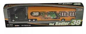 Winner's Circle NASCAR 1:64 Trailer Rig Elliot Sadler #38 BLACK M&M Halloween