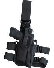 Tactical Leg Holster Black Drop Leg Holster Security Police LEFT HANDED