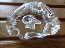 Glass paperweight Ibix? Antelope? chunky rock shaped expensive when new!