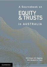 Sourcebook on Equity and Trusts in Australia: By Bryan, Michael Degeling, Sim...