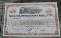 Cleveland Cincinnati CHICAGO & St. Louis 1959-62 RAILROAD STOCK CERTIFICATE