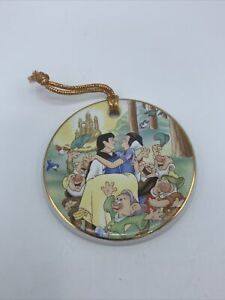 Disney Snow White & The Seven Dwarfs Christmas Porcelain Ornament Prince Charm