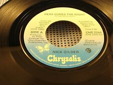 NICK GILDER - Here Comes The Night / Rockaway - 1978 VG++ Canada Press 45