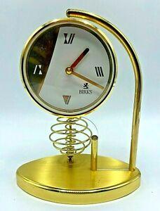 Vintage BIRKS Made in Germany Retro Mind Century Brushes Brass Mantle Clock