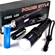 800 lumen Power style linterna LED + de iones de litio Batería + lateral luz!