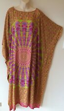 Happy Kaftan Mandala Long Caftan Mumu Beach Resort Hippy Plus-size M L XL 2X 3X