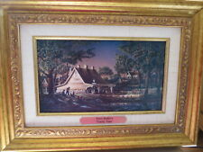 """Terry Redlin """"Family Time"""" Canvas Gold Framed Print~Precious Memories Collection"""