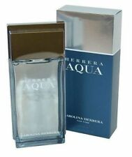 3.3 oz CAROLINA HERRERA AQUA Aftershave Splash 100ml Men Discontinued RARE