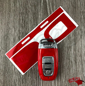 Red Gloss Key Wrap Cover Audi SMART Remote A1 A3 A4 A5 A6 A8 TT Q3 5 Q7