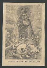 Estampa antigua Virgen de los Desamparados andachtsbild santino holy card