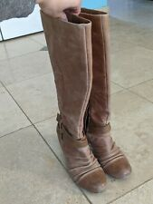 Jessica Simpson Brown Leather Boots Size 6