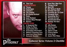 THE PRISONER, VOLUME 2 - Card #50 - Checklist - Factory Ent. 2010