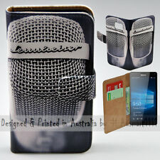 Wallet Phone Case Flip Cover ONLY for Nokia Lumia 950 XL Vintage Steel Mesh Mic
